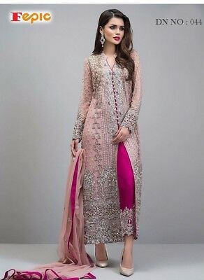 Heavy Work Pakistani Salwar Kameez Designer Indian Wedding Bridal Party Dress 44