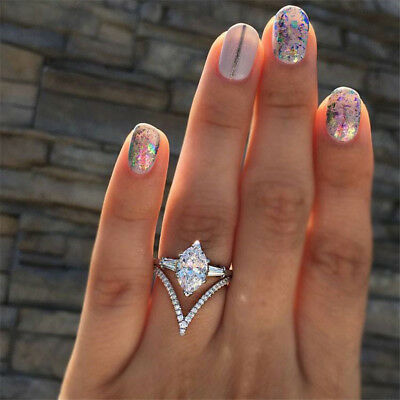 Creative Oval Zircon Silver Plated Alloy Women Fine Finger Ring Nice Jewelry