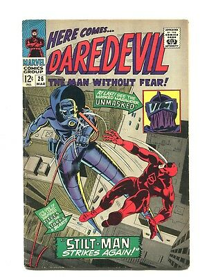 Daredevil #26- Stilt-Man App 1967 Silver Age Stan Lee