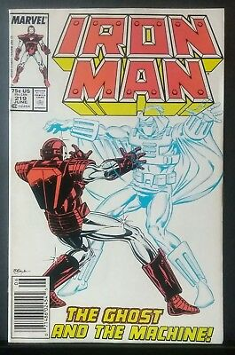 Iron Man #219 Vf/nm 9.0 Newsstand Copy 1St Appearance Of The Ghost Huge Auction