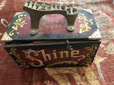 Shoe Shine Valet. Turn Of The Century Inspired. Hand Painted, Brass Heel Guard
