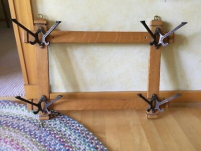 Antique Arts & Crafts Wall Rack Coat Hanger Hall Tree w/o Mirror
