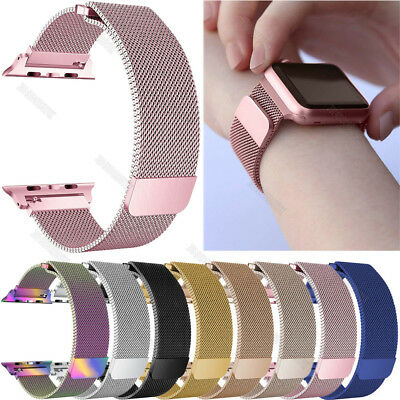 For Apple Watch 4 40mm 44mm Milanese Loop Wrist Strap Bands Magnetic Buckle Band