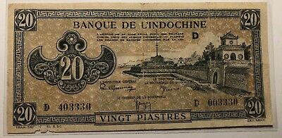 French Indochina 20 Piastres (1942 - 1945) - (124)