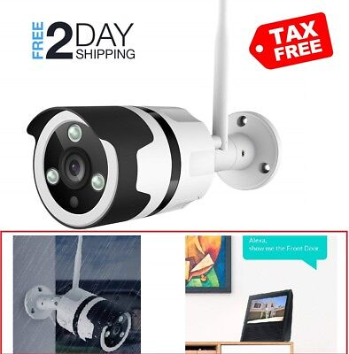 1080P WIFI Camera Netvue Outdoor Security Bullet Camera Compatible with Alexa