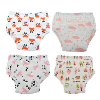 Kids Girls Baby Boys Toddler 6 Layer  Cotton Underwear Pants