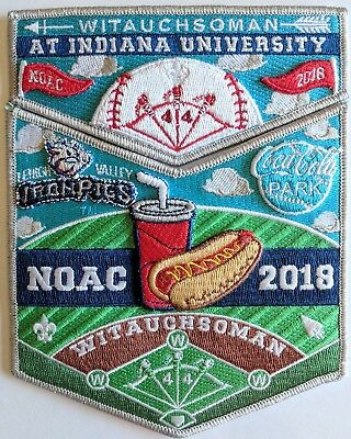 Iron Pigs Park GNY290 2018 NOAC OA Lodge 44 Witauchsoman Flap Set Red Bdr