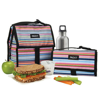NEW Packit Freezable Lunch Bag Blanket Stripe