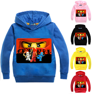 Boys Girls Kids NINJAGO Cosplay Hoodie Sweatshirt Spring Fall Casual Costumes