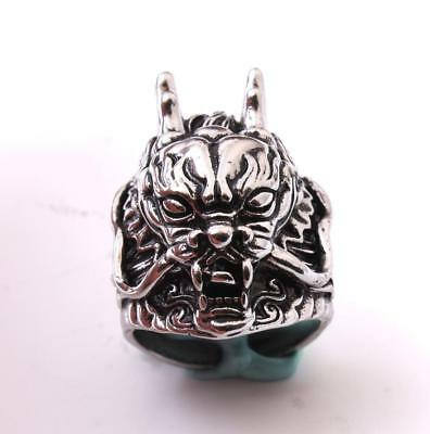 Unique Mens Chinese Dragon Punk Style Stainless Steel Ring Jewelry Adjustable