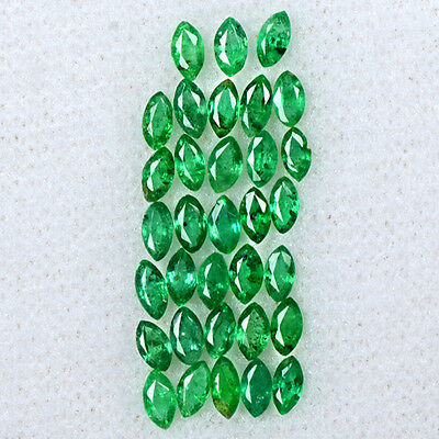 2.23 Cts Natural Top Rich Green Emerald Marquise Cut Lot Zambia 3.5x2mm Gemstone