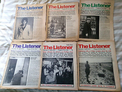 19 THE LISTENER Magazines 1974 - 1975 BBC Radio Publications + 5 NEW STATESMAN