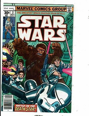 Lot Of 5 Star Wars Marvel Comic Books # 3 3 9 12 13 Jedi Skywalker R2D2 JL12