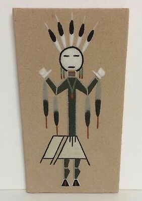 """""""Talking God"""" - Vintage Navajo Sand Painting by New Mexico Artist Larry Toledo"""