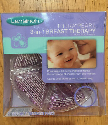 Lansinoh Thera Pearl 3-in-1 Breast Therapy Packs Hot or Cold **Mastitis Help**