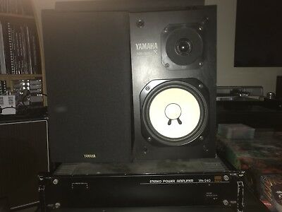 Yamaha NS-10M X Speakers, Studio Monitors, w/ Fostex amp, subwoofer and cables