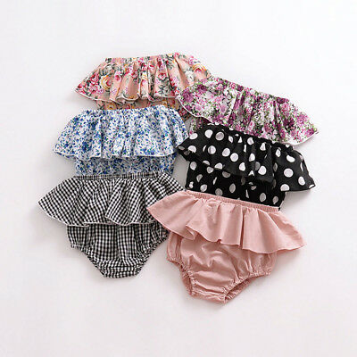Toddler Baby Girl Cotton Shorts PP Pants Nappy Diaper Covers Ruffle Bloomers Kid