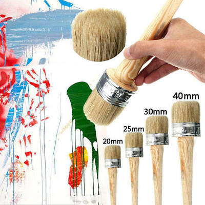 40 30 25 20mm PAINT BRUSHES SHABBY CHIC CHALK PAINT WAX PURE BRISTLE