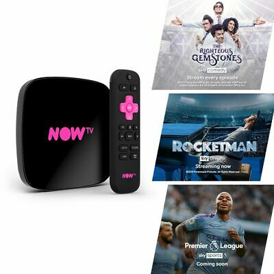 NOW TV Smart Box with 4K and Voice Search including 4 NOW TV Passes
