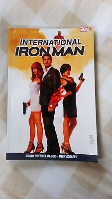 International Iron Man Bendis Maleev Marvel Graphic Novel
