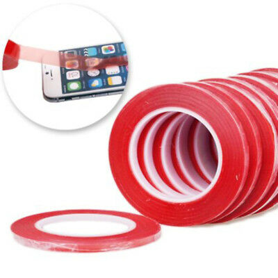 50m 3MM Red Tape Double Sided High Quality Adhesive Roll Repair For iPhoone iPad
