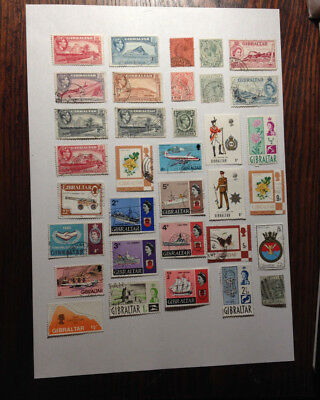 Gibraltar 34 stamps clearance sale.