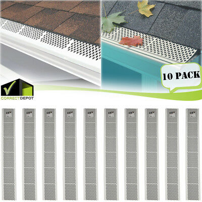 PACK of SNAP-IN White GUTTER GUARD COVER Screen Leaf Debris Protection 3Ft Units