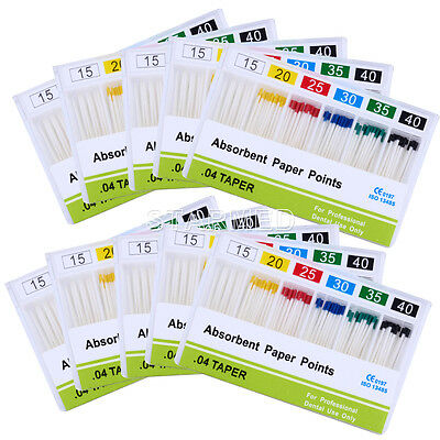 Dental Absorbent Paper Points 15-40# Taper .04 Root Canal Cleaning Tips Model