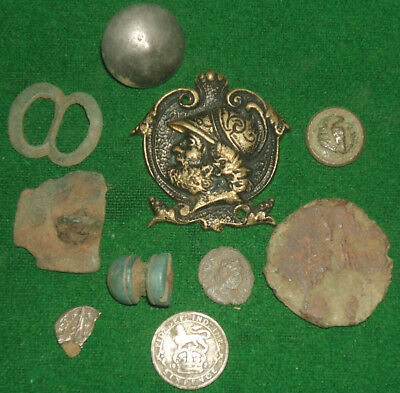 Metal Detector Found Coins And Artefacts , Hammered Silver , Roman