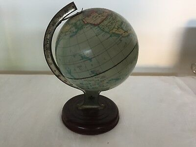 VINTAGE CHAD VALLEY - 1950'S TIN PLATE WORLD GLOBE No. 10028 MADE IN ENGLAND
