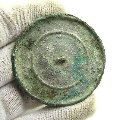 Authentic Medieval Decorated Bronze Mirror - G619