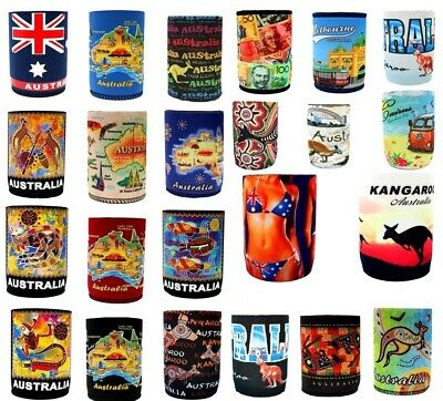 6x Stubby Holder Stubbie Can Beer Bottle Drink Cooler Australia Flag Souvenir