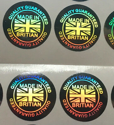 """Hologram Sticker Warranty Void Label Security Seal """"Made in Britain""""Tamper Proof"""