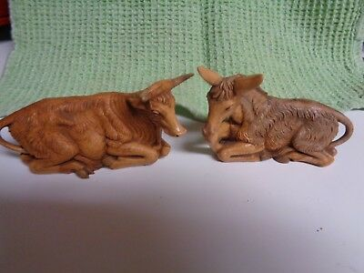 Fontanini cow and donkey, 5 inch set  FREE SHIPPING!