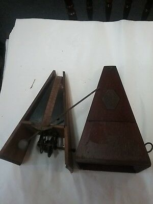 Two Antique Maelzel Metronome Spares Or Repair