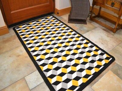 Ochre Gold Kitchen Rugs Small Large Washable Non Slip Long Hall Runners Back Mat
