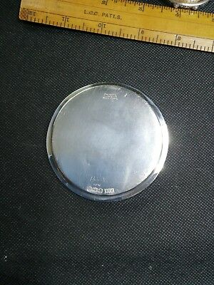 RARE Scottish solid silver wine glass coaster, hallmarked in Sheffield byBrooks