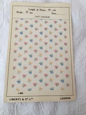 Original Old 'LIBERTY' Tana Lawn Floral Fabric 1940's, Inspirational Design