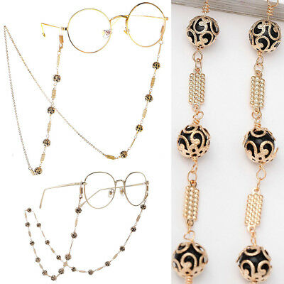 Glasses Neck Chain Cord Lanyard Chic Metal Beads Retainer Spectacles Sunglasses