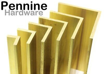 Solid BRASS ANGLE Equal Angle Extruded Excellent range of sizes Bandasw Cut