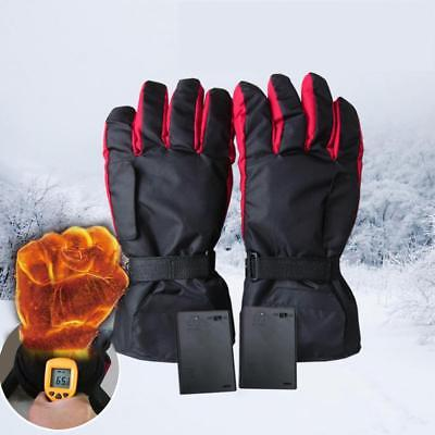 Battery Power Carbon Fiber Heating Gloves Electric Heated Gloves Ski Warm Gloves