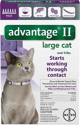 Bayer Advantage II Flea Prevention for Cats over 9lbs - 6 Packs