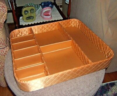 Cloth Covered Quilted Vintage Draw Organizer/Divider