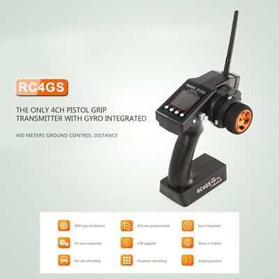 RadioLink RC4GS 2.4G 4CH Controller Transmitter R6FG Receiver Gyro for RC CE