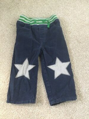 ❤️  Mini Boden Boy 18-24 Months Old Star Patch Navy Cord Trousers