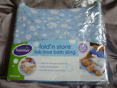 Fold and Store Baby Bath Sling, excellent support, great for travel