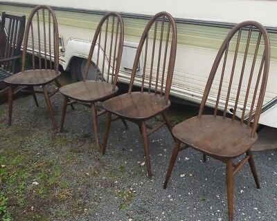 Wooden Ercol quaker drop leaf table and chairs / antique / vintage / retro /wood