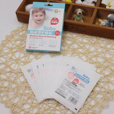 10Pcs Baby Care Waterproof Umbilical Safety Paste Protection Umbilical Past LH