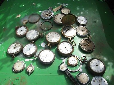 Job Lot Vintage Antique Pocket Watch & Wristwatch Spare Parts Steampunk
