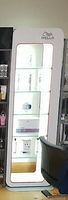 Wella / Nioxin Hair Salon Retail Shelves - Backlit - Perfect Condition - 1 Owner